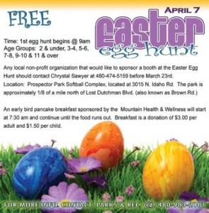 Apache Junction Parks and Rec: Easter Egg Hunt