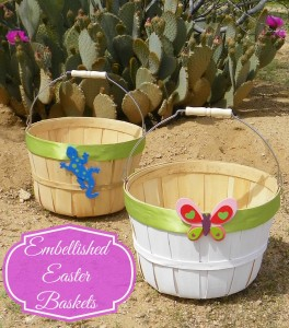 Celebrating Family Embellished Easter Baskets