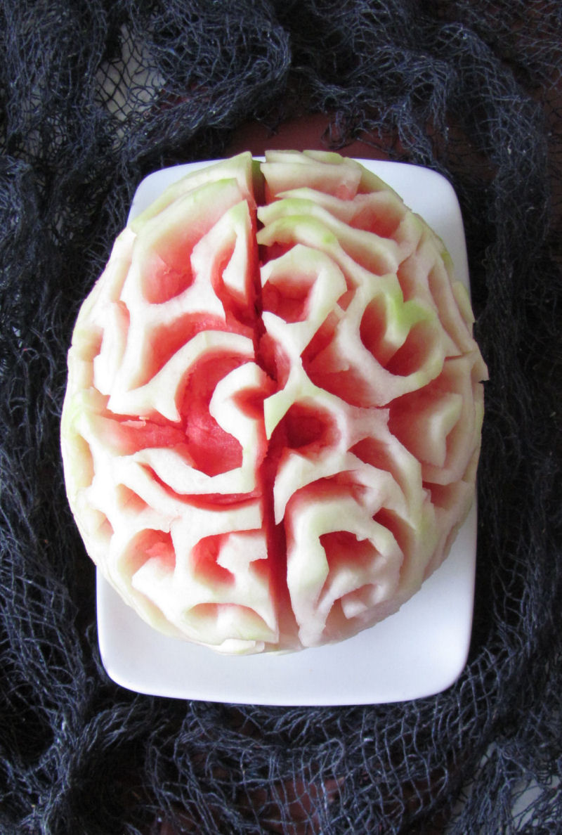 "Your little zombies will love this healthy Halloween ""brain food""!"