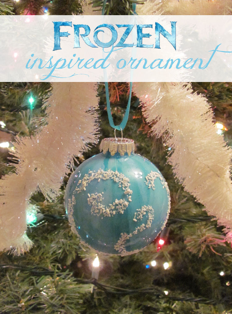 Frozen inspired ornament cover