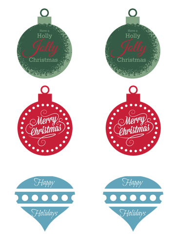 holiday gift tags {free printable} for all your gift giving needs