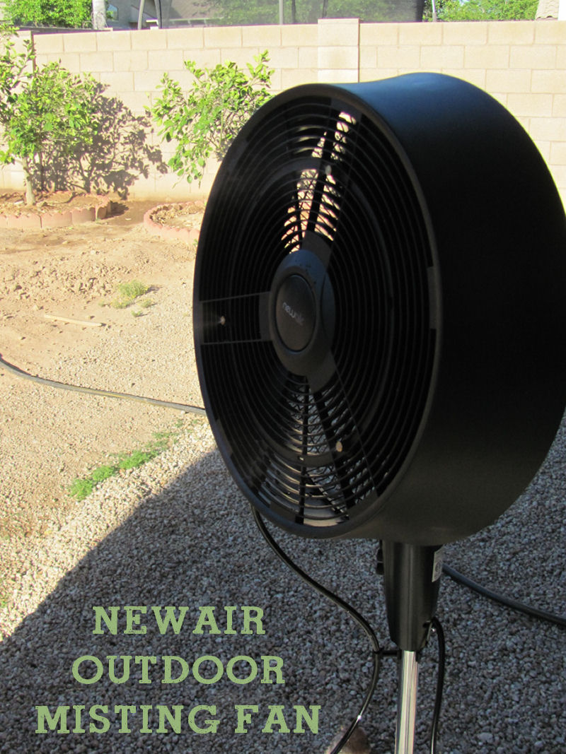 The NewAir AF-520B Outdoor Misting Fan is a must for outdoor projects.